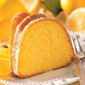 Glazed Lemon Flute Cake Recipe Taste Of Home