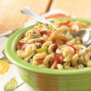 Hot Bacon Macaroni Salad