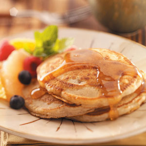 Egg free spiced pancakes taste of home ccuart Choice Image