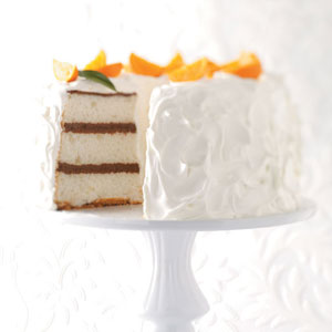 Chocolate layered angel food cake recipe taste of home forumfinder Images