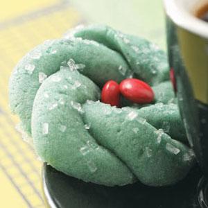 Christmas Wreath Cookies.Festive Wreath Cookies