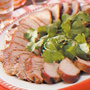 Grilled Cilantro Pork Tenderloin image