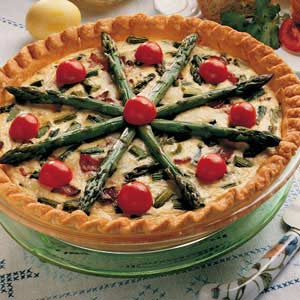 Hearty asparagus quiche recipe taste of home forumfinder Image collections