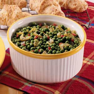 Zesty buttered peas recipe taste of home forumfinder Choice Image