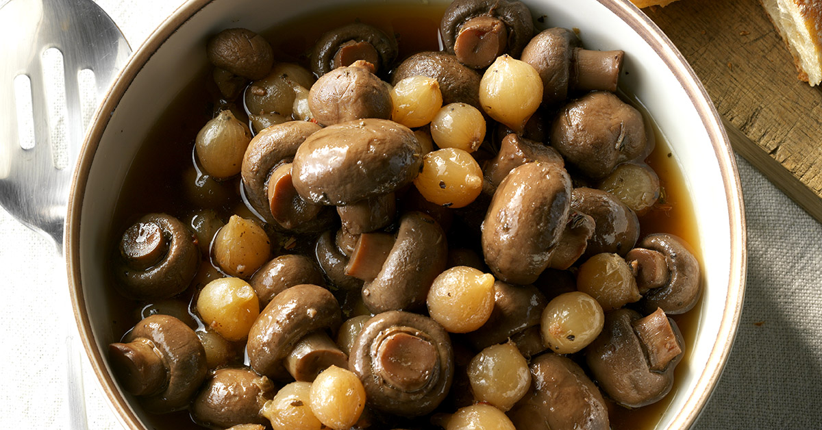 Slow-Cooker Marinated Mushrooms