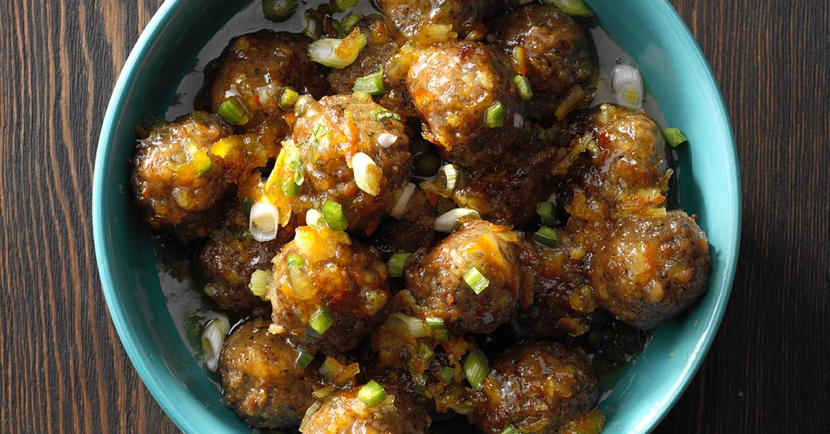 Orange-Glazed Meatballs